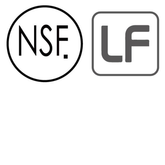 通過NSF與LF(Lead Free,無鉛)認證