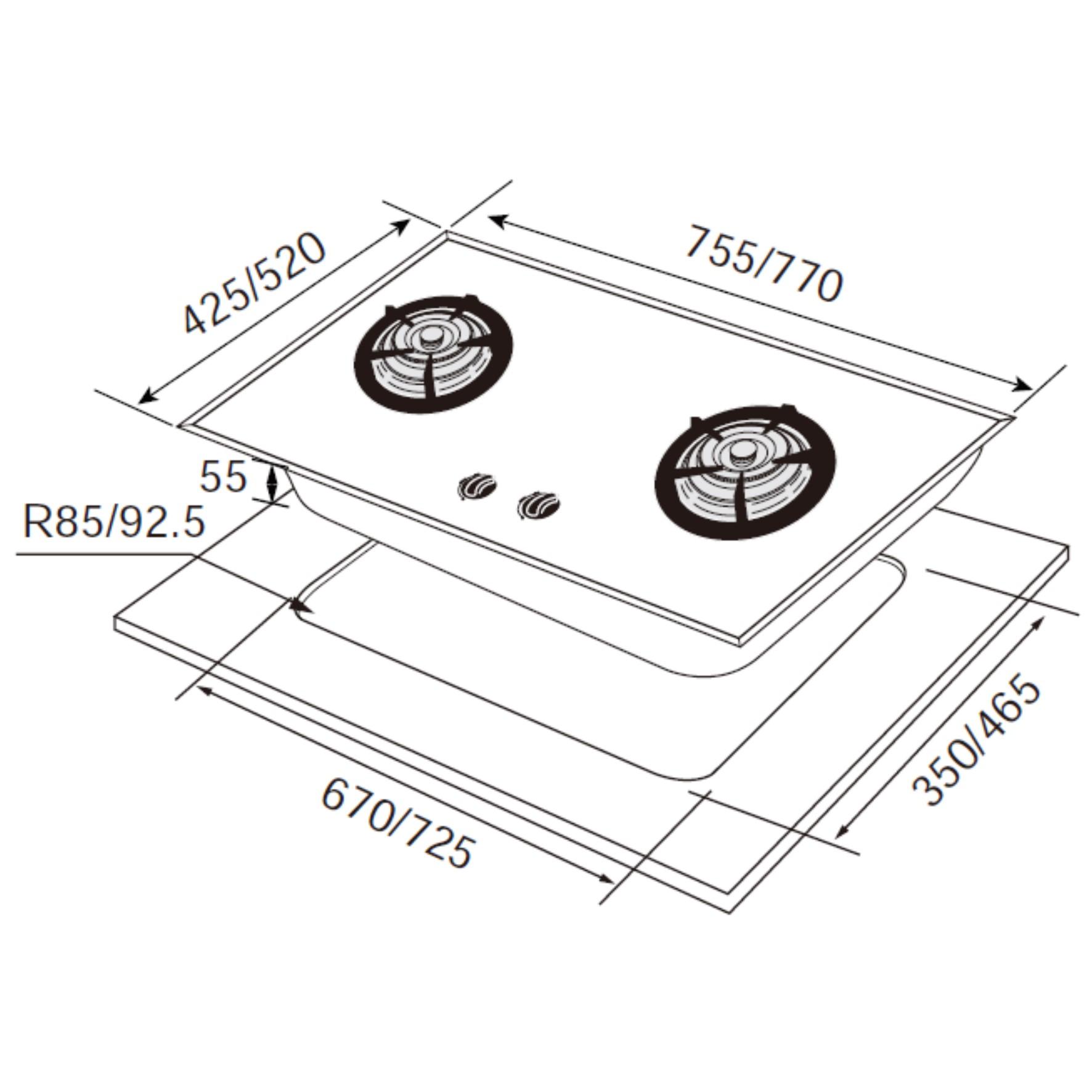 JT-GC299A 晶焱玻璃檯面爐-JT-GC299A