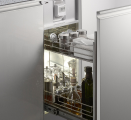 Built-in type moisture proof storage cabinet