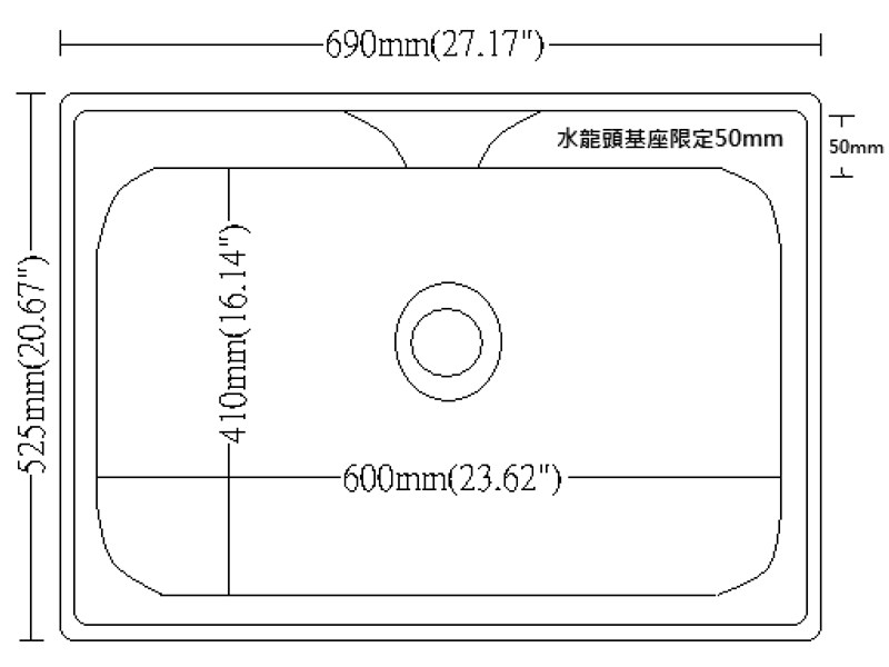 JT-A6016 不鏽鋼水槽-JT-A6016