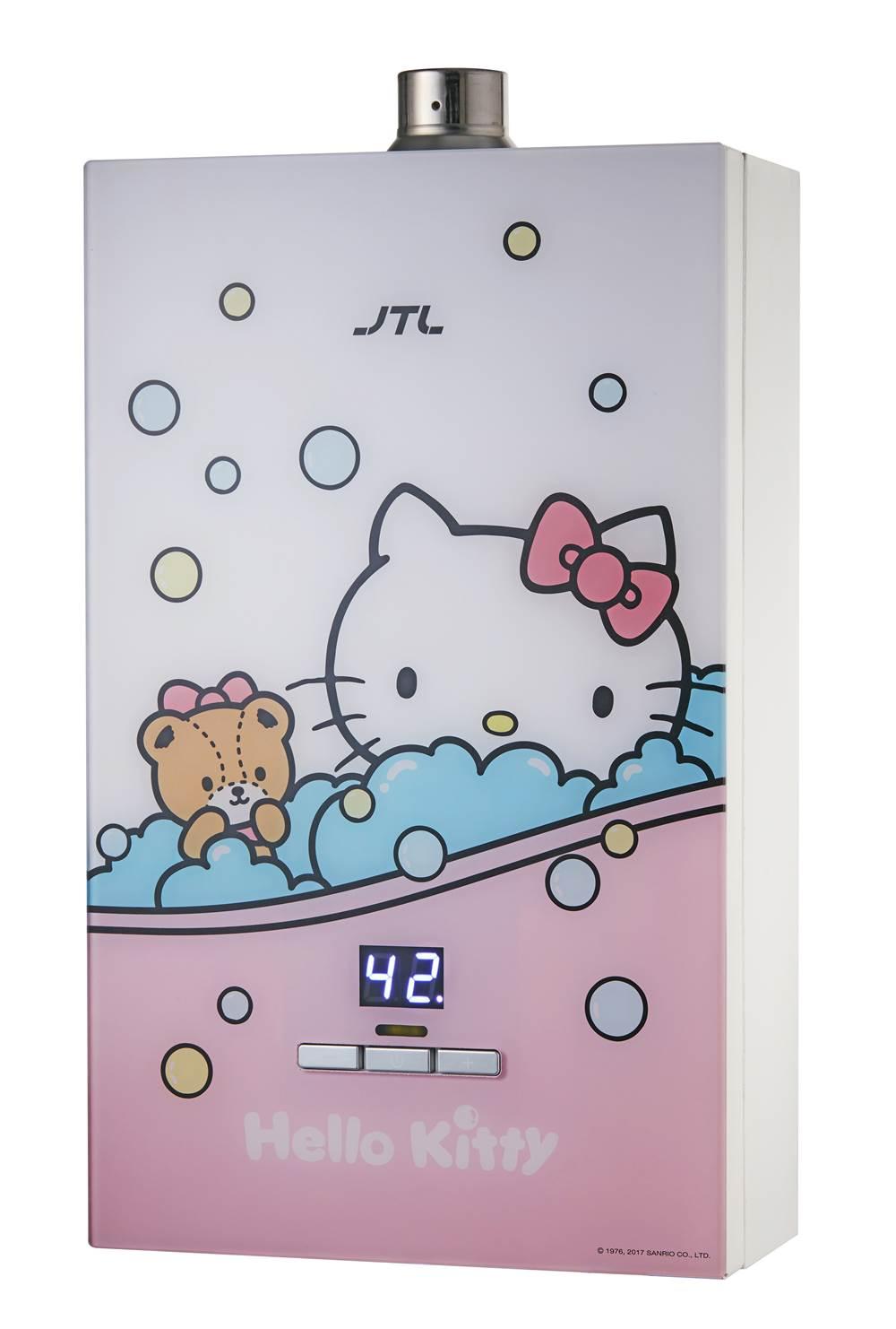 JT-H1633KITTY 數位恆溫熱水器(16L)(即將上市)-JT-H1633KITTY