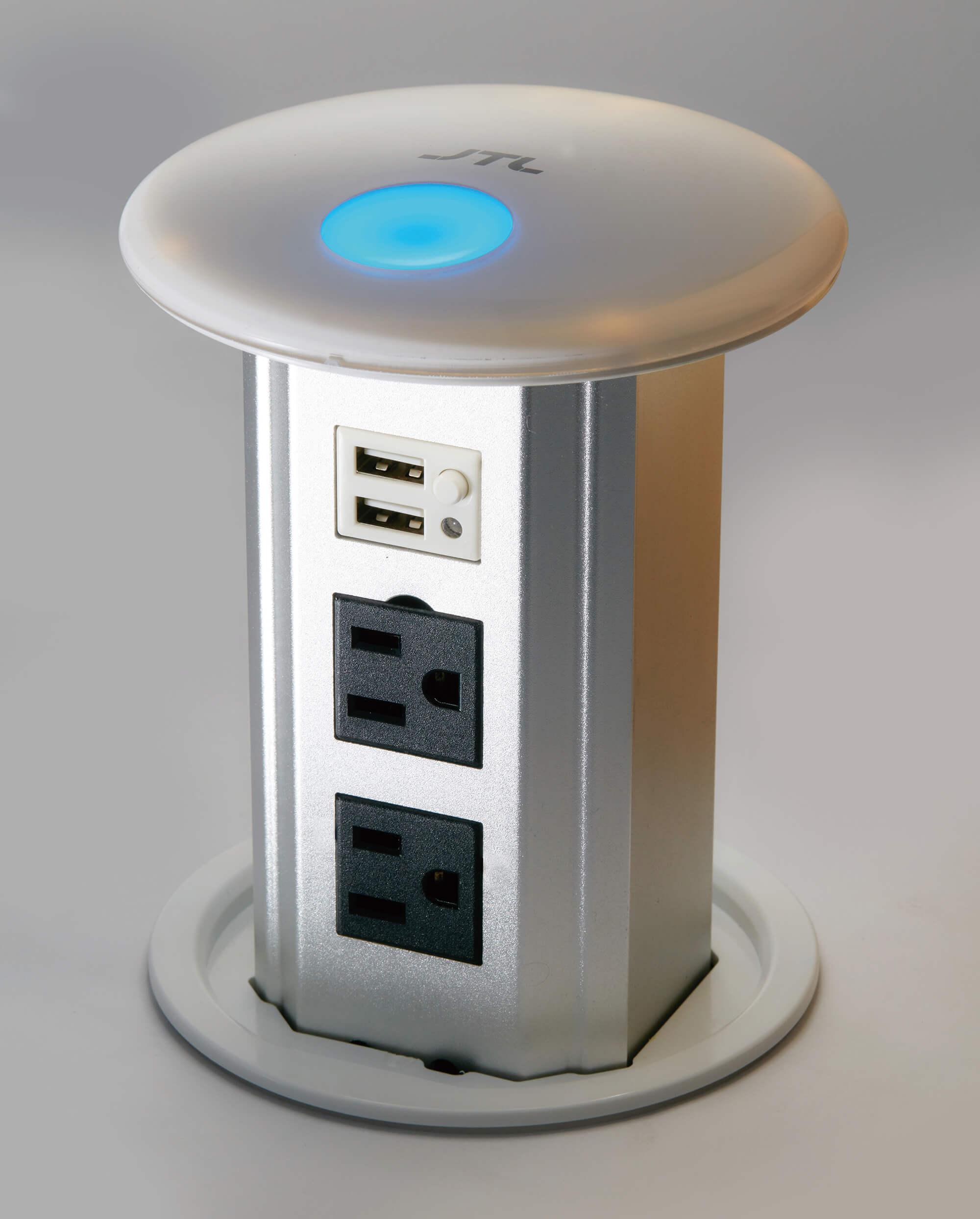 電動升降式電源插座